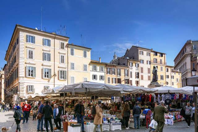 Mercado de Campo dei'Fiore - Imagen de Dreamstime