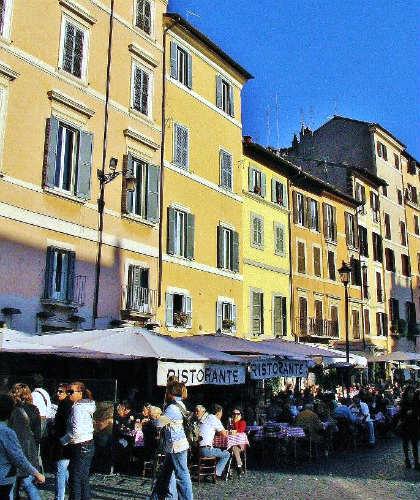 Terrazas en Campo dei'Fiore - Imagen de Guías Viajar