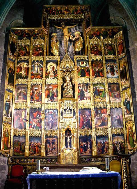 Retablo del altar mayor de Santa María la Real de Olite - Imagen de Zarateman