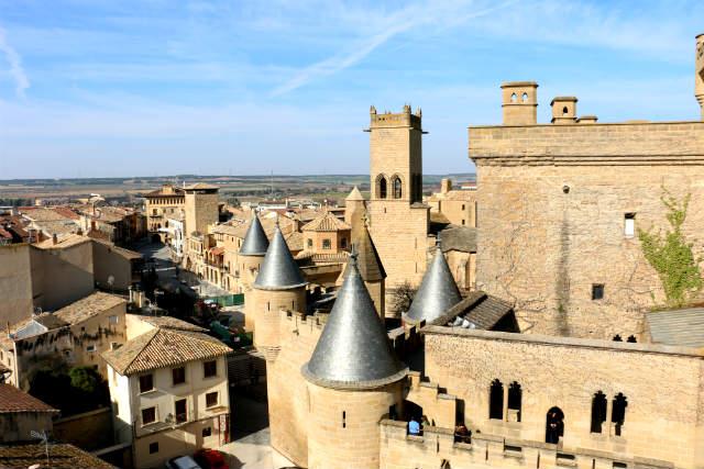 Olite desde su Castillo - Destino y Sabor
