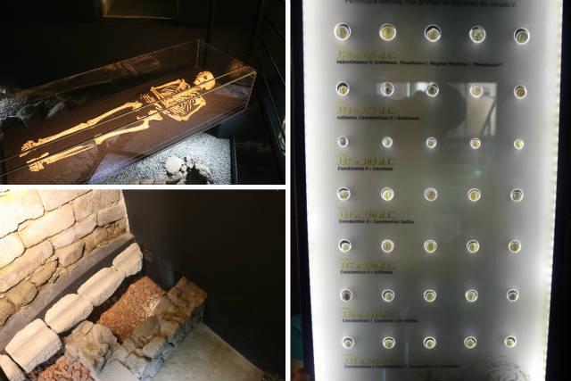 Restos hallados en yacimientos del interior de la ciudadela de Lamego - Destino y Sabor