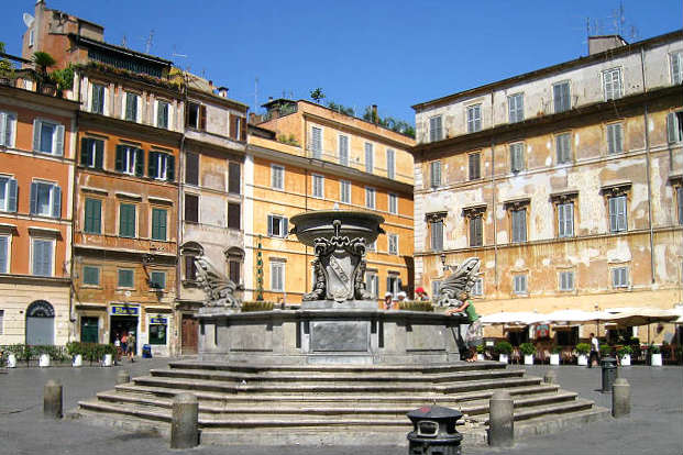 Fontana di Santa Maria in Trastevere - Imagen de Roma Art Lover