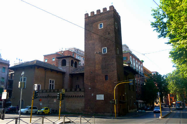 Torre Anguillara, actual Casa Dante en Roma - Imagen de Casa Dante