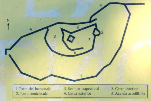 Esquema de la planta del castillo de Enciso - Destino y Sabor