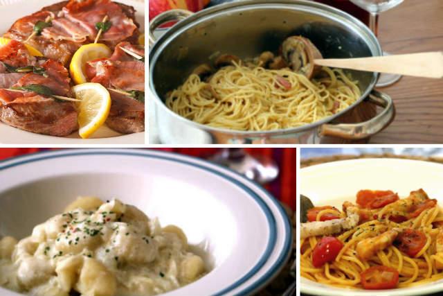 Platos diversos de la cocina romana - Destino y Sabor