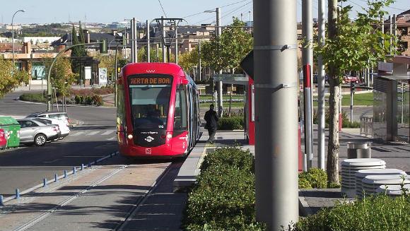 Metro Ligero llegando a Boadilla del Monte - Imagen Wikipedia