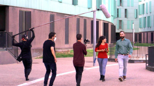Filmación de La chica de los corazones