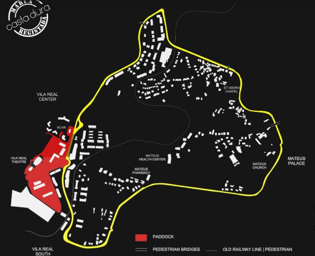 Mapa del Circuito Internacional de Carreras de Vila Real, pincha para ver en grande - Imagen de la organización
