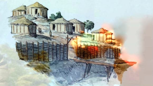 Recreación del poblado íbero - Destino y Sabor