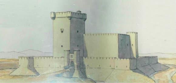 Representación del castillo en época medieval - Destino y Sabor