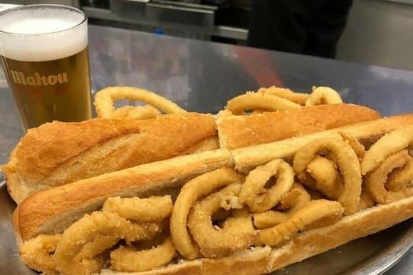 Bocata de calamares de El Brillante - Imagen de Madrid Secreto