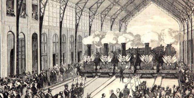 Inauguración de la Estación de las Delicias - Imagen de Archivo del Museo