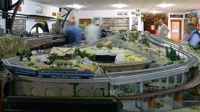 Modelismo ferroviario en las instalaciones de la Asociación de Amigos del Ferrocarril de Madrid - Imagen de la Asociación