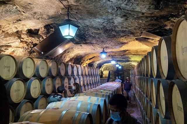 Cueva de crianza de Bodegas Corcovo - Destino y Sabor