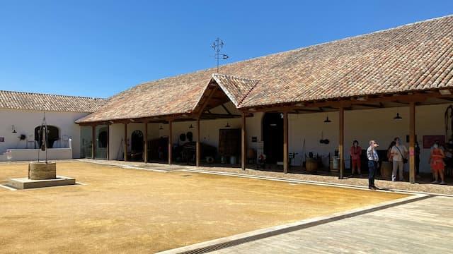 Patio del Museo del Vino de Valdepeñas - Destino y Sabor