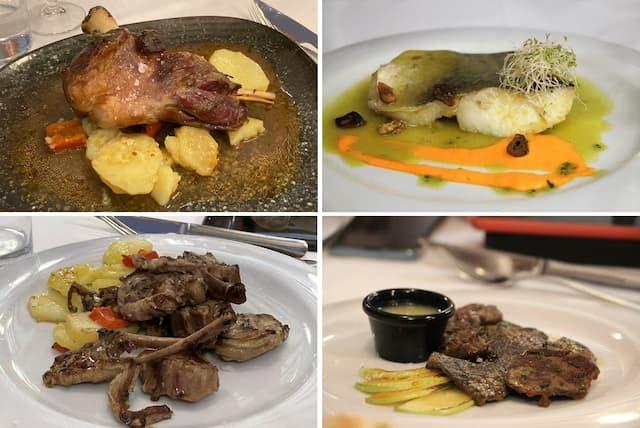 Principales del menú del Rte. la Venta del Comendador de Valdepeñas - Destino y Sabor