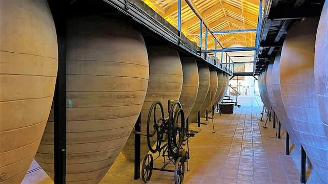 Sala de tinajas originales del Museo del Vino de Valdepeñas - Destino y Sabor