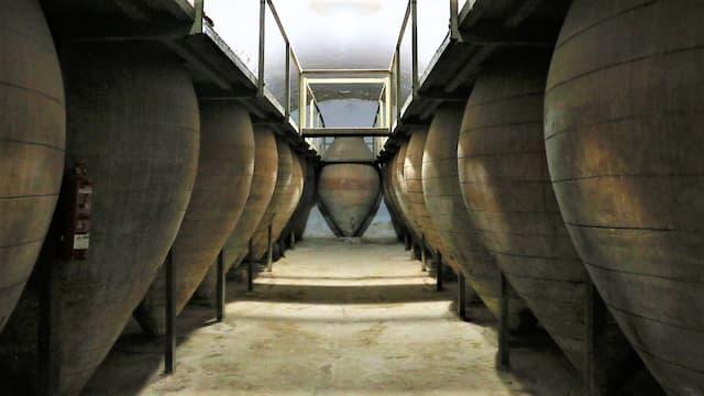 Tinajas originales de conservación en la cueva del Museo del Vino de Valdepeñas - Destino y Sabor