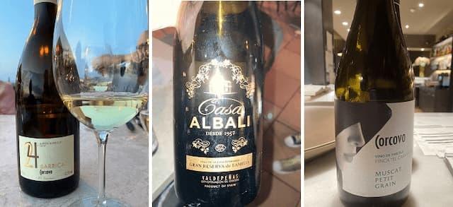 Vinos degustados en la terraza del Hotel La Caminera - Destino y Sabor